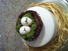 Adorable wedding cake topper