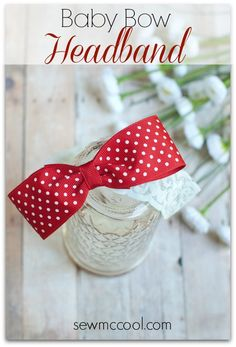 How to make a baby bow headband by sewmccool.com
