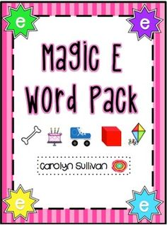 Magic E Pack - Teaching Students Silent E