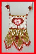 Valentine Mini Pouch Pattern by De Lynn Nelson at Bead-Patterns.com