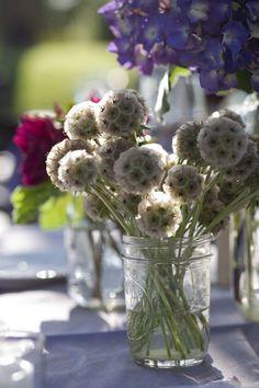 Flowers In Glass Jars & jam Jars <£