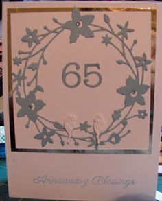 Wreath,numbers and birds are all die cuts from Memory Box.  The sentiment is from Sweet & Sassy stamps.
