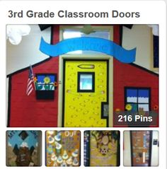Tired of your same old boring classroom door? Check out this board for some inspiration. classroom door