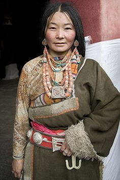 Woman of old Lhasa.