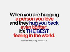 Hugging...