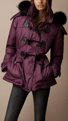 Burberry Brit Quilted Duffle Coat