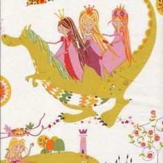 Alexander Henry House Designer - Once Upon a Time - Princess Kingdom in Natural