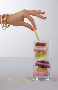 Make pretty striped ice cubes at your next party with the Oh Joy for Target scalloped ice cube tray!