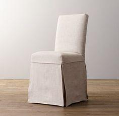 Asher Chair Slipcover. restoration hardware