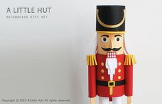 nutcracker gift set by A Little Hut, via Flickr paper cut, cutter stuff, nutcrack gift, svg project, gift set, paperak bb, silhouett idea