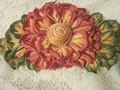 French Ombre Vintage Style Millinery Ribbon Flower Pin Corsage Ribbon Work   eBay - Grandma's Flower Garden
