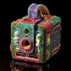 """Kathy Wegman, Artist, Hawkeye Brownie Camera, 5.00"""" h 4.75"""" w 3.75"""" d"""