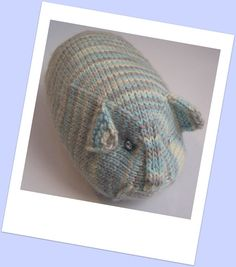"""Hand knit TOY  Guinea Pig  Hand painted merino and by PippsPurses, $16.00 """"CRYSTAL P."""""""
