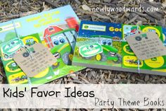 Skip the candy or toys - give books for kids' favors at your next party. These Johnny Tractor books were a hit paired with stickers and custom temporary tattoos.