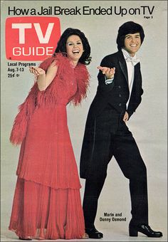 Donnie & Marie (1976-79, ABC) starring Donny & Maries Osmond — TV Guide, August 7, 1976