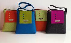 handmade bags, laptop bags, purpl handbag, leaves, handmad bag, felt purs, felt tote, leaf work