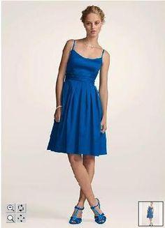 Davids Bridal Horizon Blue Bridesmaid Dress $30