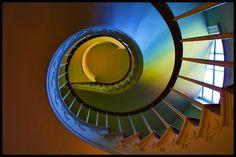 Spiral staircase in Buena Vista Mansion, Prattville, AL