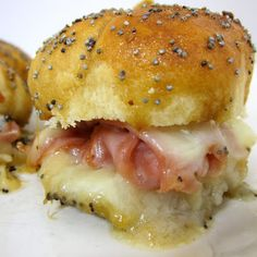 Hot Party Ham Sandwiches
