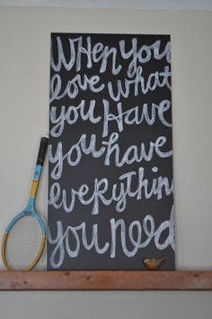 Pre-made chalkboard at Home Depot = inexpensive chalkboard art // I Am Momma Hear Me Roar