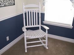 two paint colors divided by chair rail