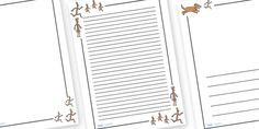 Twinkl Resources >> Stick Man Page Borders  >> Thousands of printable primary teaching resources for EYFS, KS1, KS2 and beyond! Stick man, Julia Donaldson, resources, family tree, Stick Lady love, Christmas, Father Christmas, story, story book, story book resources, story sequencing, story resources, literacy, writing, page border, A4 page, A4 page border, template,
