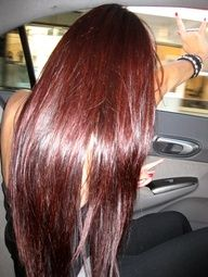 Cherry Coke Red hair color.  Kind of obsessed with this color right now...