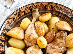 Apple, potato chicken bake