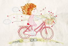 Looks like me on my pink bike each day getting the mail! :)
