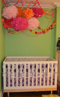 Pom-pom mobile | Nursery Ideas – Parenting.com