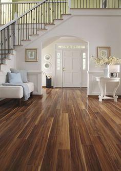 Laminate Flooring DIY...love the color choice