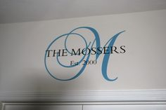 A monogram I had made for our new house. I ordered it from this Etsy shop: http://www.etsy.com/shop/FleurishWalls