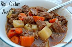 Slow cooker stew- for a home cooking dinner :)