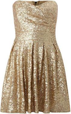 Sweetheart Sequin Puff Skirt Dress