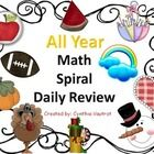 This unit is a bundled unit of my monthly daily math spiral reviews to use with your students to review several math concepts.  These concepts incl...
