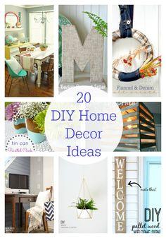 20 DIY Home Decor Ideas ...so many great ideas!