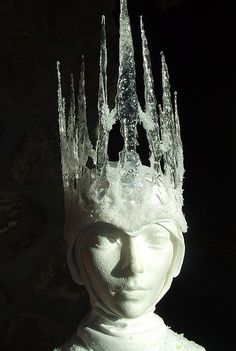 Crown made out of hot glue.