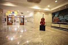 Marconfort #Benidorm Suites. Lobby - 70's 80's & 90's music themed hotel www.marconfort.com