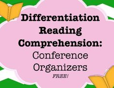 Differentiated Reading Instruction: Comprehension Skills from Ms. Finlayson's Classroom on TeachersNotebook.com -  (7 pages)  - Differentiated small group reading instruction with a focus on comprehension skills. Save yourself time and stress and give your kids what they need!