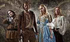 When England was turned upside down … Hope, Abe, Beth and Ned in New Worlds. Photograph: Mark Johnson/Channel 4