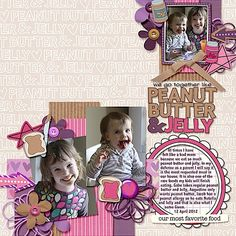 Peanut Butter & Jelly Scrapbook Layout