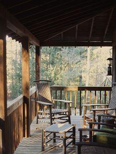 The cabin porch!