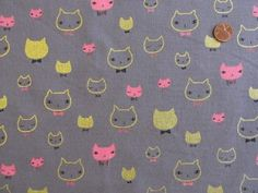 I need, need this fabric! midas kisses metallic cats | kokka at imagine gnats