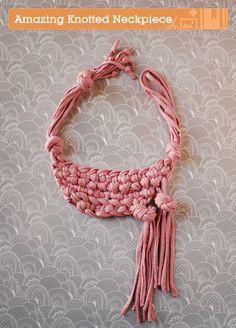 Tutorial de collar de trapillo hippie chic | El blog de trapillo.com