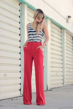 in love with these red pants.