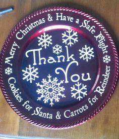 Cookies for Santa Plate by HannahHouseHandmade on Etsy, $10.00