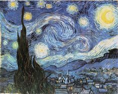 Starry Night is probably Vincent van Gogh's most famous painting.   Starry Night was painted while Vincent was in the asylum at Saint-RémyUnlike most of Van Gogh's works, Starry Night was painted from memory and not outdoors as was Vincent's preference. This may, in part, explain why the emotional impact of the work is so much more powerful than many of Van Gogh's other works from the same period. Starry Night stands out as one of the most important works produced in the nineteenth century.