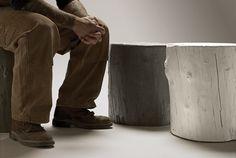 Knotty Stool lightweight indoor-outdoor #concrete tree stump stools by @Carlye Hardman-Goods #garden #design