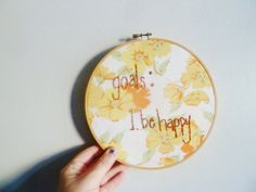 the be happy hoop ... one of a kind wall art by sweetanddirtys, $22.00