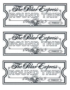 Polar Express Ticket Pattern Related Keywords Suggestions Polar